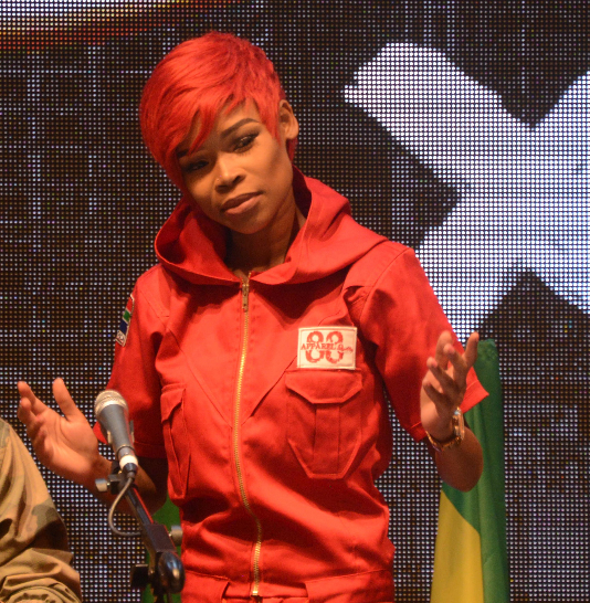 The party's leader Julius Malema reached out to Fifi after her former label' Ambitiouz Entertainment' served her with a court interdict preventing her from performing the songs she had recorded before leaving the label.