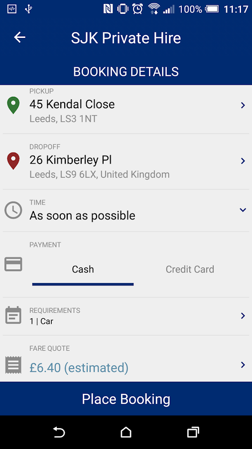 SJK Private Hire- screenshot