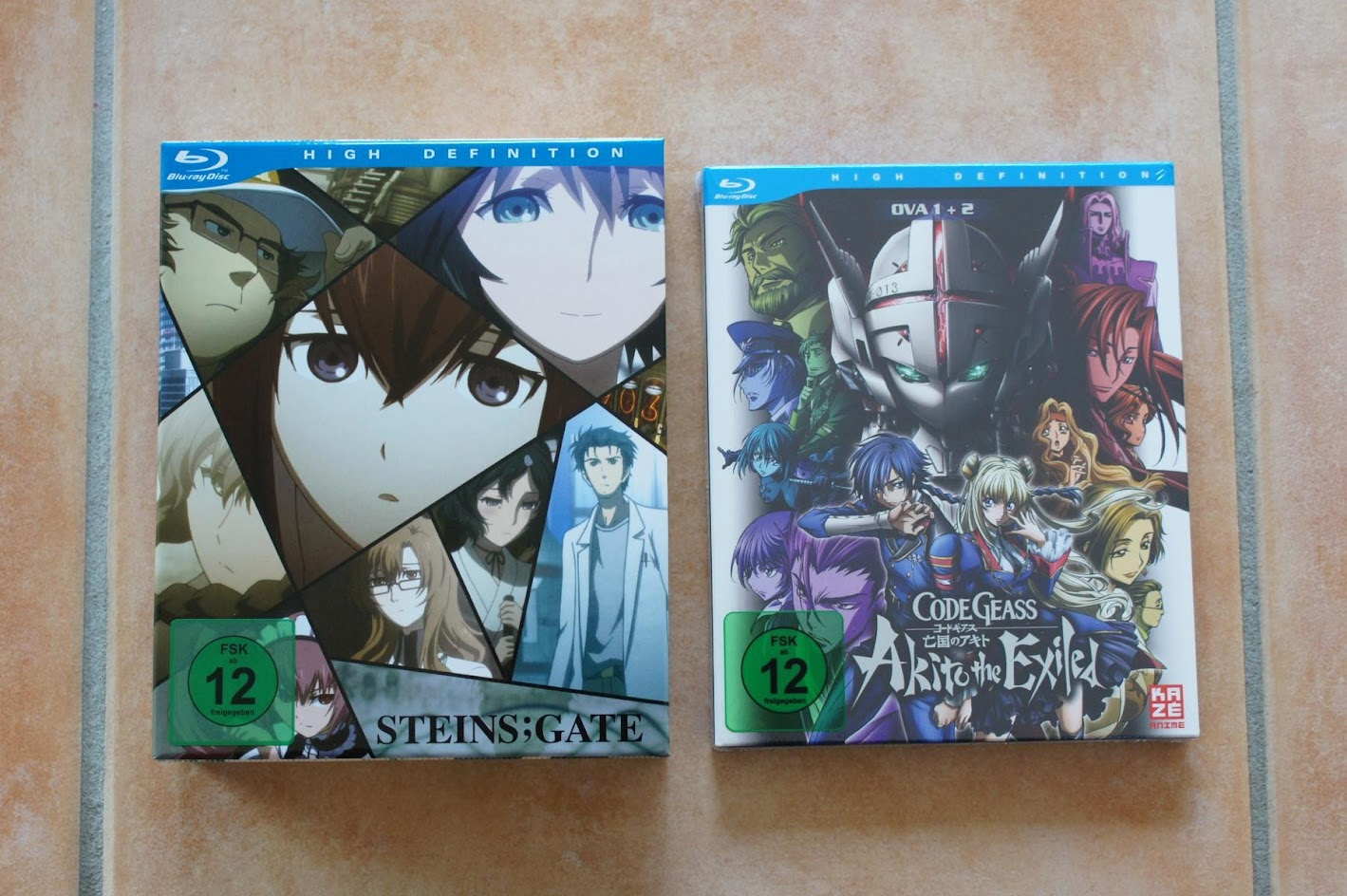 Anime Blu-rays Steins Gate Code Geass