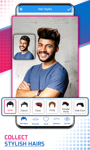 Man Photo Editor & Men HairStyle, Suits, Mustache screenshot 1