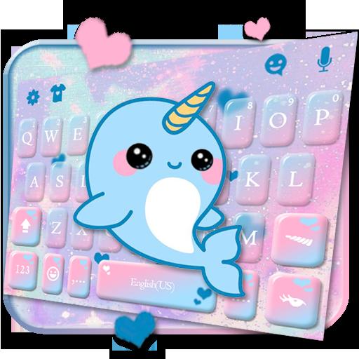 Lovely Unicorn Whales Keyboard Theme Icon