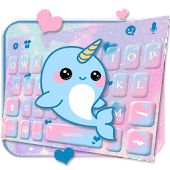 Lovely Unicorn Whales Keyboard Theme