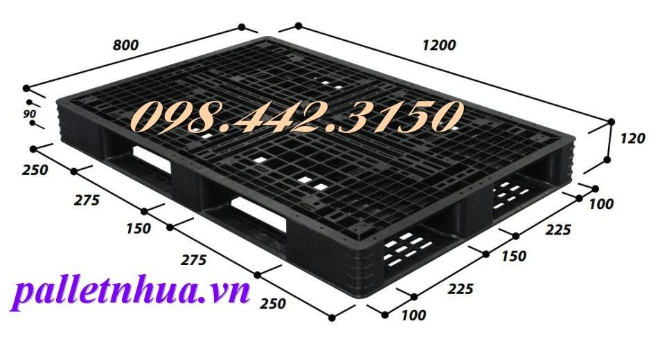 Pallet kê hàng 1200x800x120mm