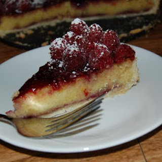 Raspberry Marzipan Tart.