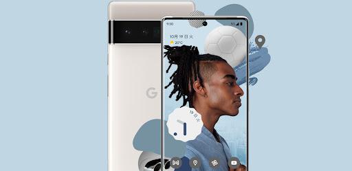 スタイリッシュなデザインの新しい Google Pixel 6。