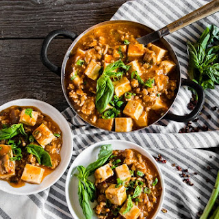 Ground Pork Mapo Tofu.