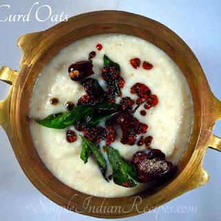 Curd Oats (Savory Yogurt Oats)