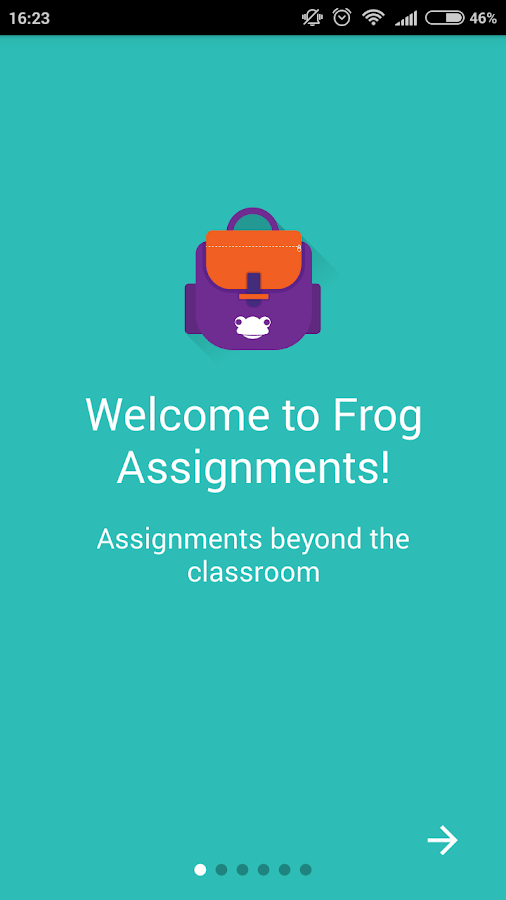 Frog Assignments- screenshot