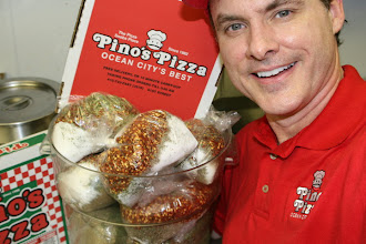 """Photo: I am Jim Hofman. Owner/Operater-Pizza inspector                                           for 20 years this coming 2012. My personal cell is 410-422-4780.  This is my own own """"Impossible-To-Copy""""  Goodie-Bag of Spices & Herbs for each home-made  batch of pizza sauce made daily on premise.  ---- Pino`s Pizza ---- Call 410-723-FAST (3278)-----------81st street Coastal Highway 10 minute Carry-out, or Fast Delivery to all of Ocean City"""