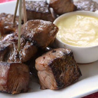 Steak Bites with Garlic Aïoli.