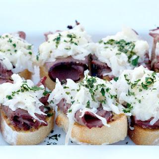 Pastrami Sauerkraut Crostini