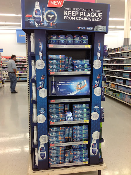 Photo: There was a Crest display on the endcap.