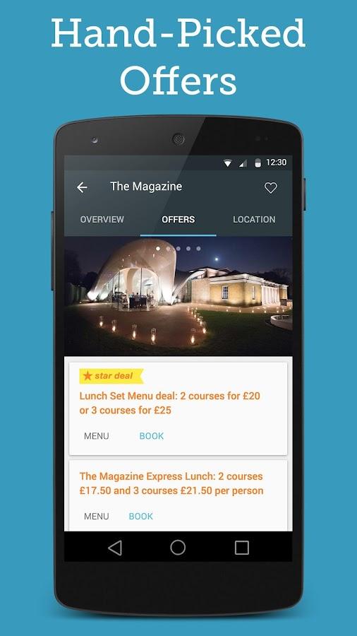 Bookatable Restaurant Bookings- screenshot
