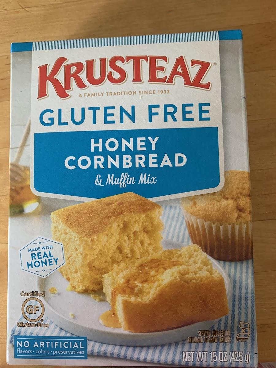 Bread & muffin mix honey cornbread