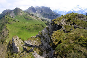 Photo: Next time we'll walk down there to continue all the way on that ridge