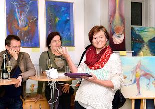 """Photo: AUSSTELLUNG KARIN OSTERTAG & WERNER LIEBHARD - Künstlergruppe """"WOLK"""" Oktober 2015. Karin Ostertag. Foto: Barbara Zeininger"""