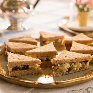 Curried Chicken Salad Tea Sandwiches.