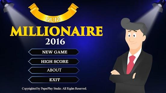 Millionaire Quiz Game 2016 screenshot