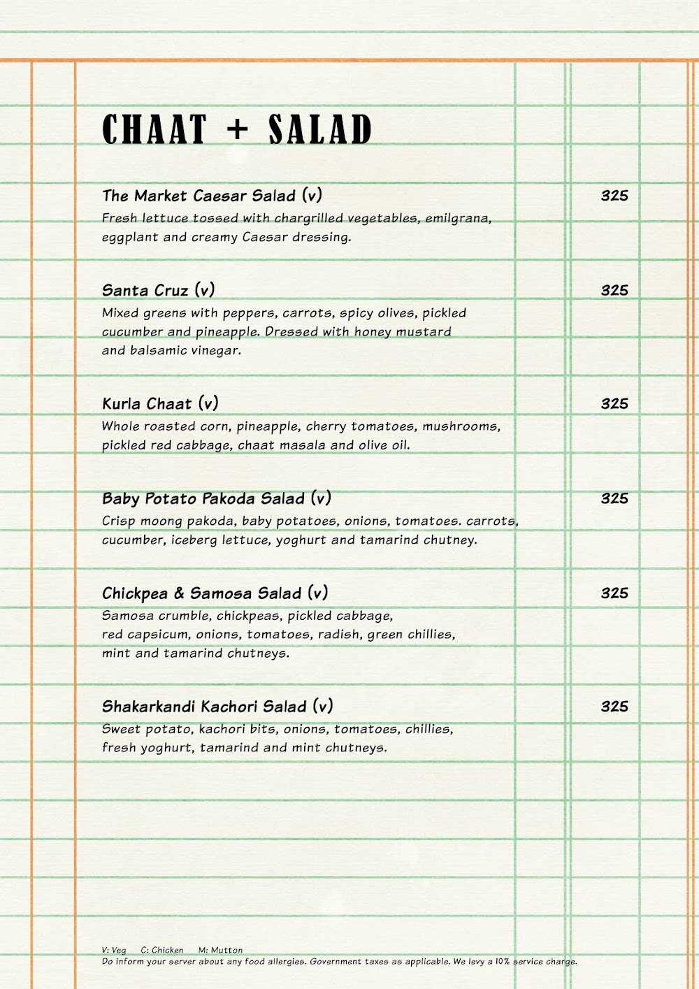 The Market Project by PizzaExpress menu 4