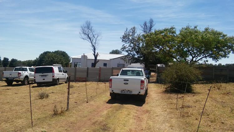The house in Hillside, Randfontein where police found a drug lab this morning.
