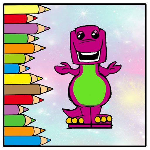 How To Color Barney Game