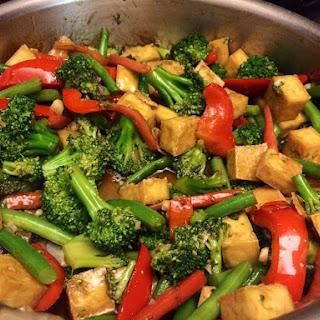 Tofu Veggie Stir Fry.