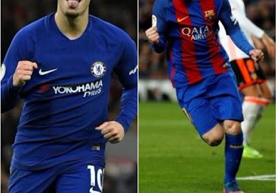 Eden Hazard marche sur les traces de Lionel Messi