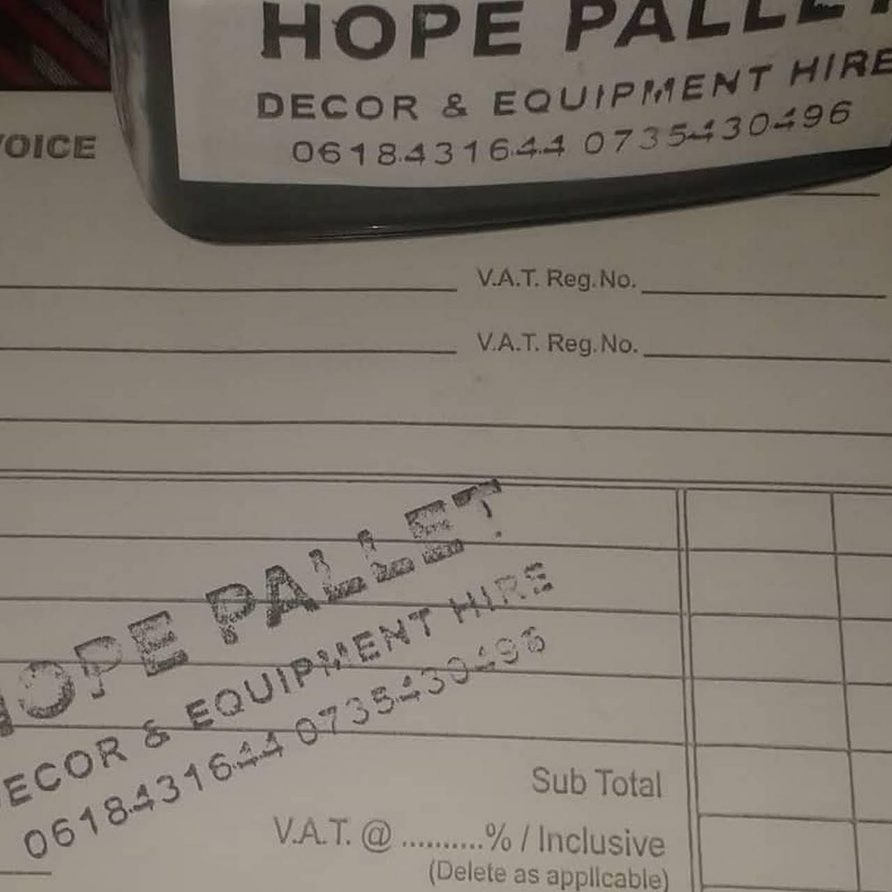 Hope Pallets Decor Event Equipment Hire Event Management