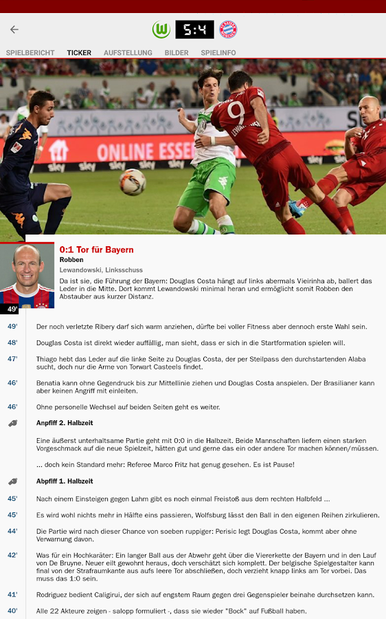 kicker Fußball News- screenshot