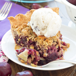 Cherry Pie with Almond and Oat Crumble