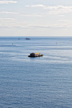 Photo: This photo is real. There is a floating house on the ocean.
