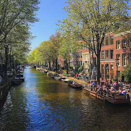 Amsterdam . April . 2019 by Wei Jian Yip - City,  Street & Park  Street Scenes
