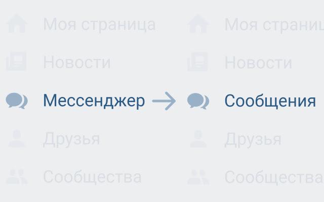 VK Messages Label Return