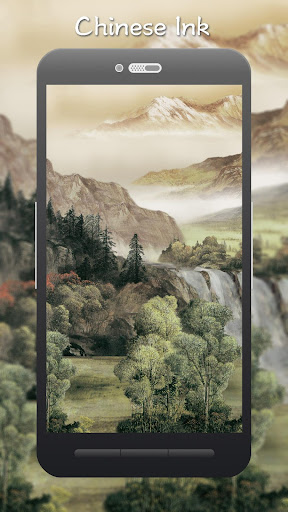 3D Chinese Ink  Style Live Wallpaper screenshot 2
