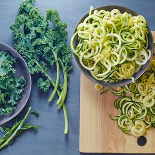 Avocado Kale Pesto + Zucchini Noodles.