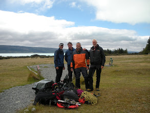 Photo: The team, ready to go. Ace guides Gary Dickson and Sean Brooks, and old farts Bill Day and Phillip Melchior.