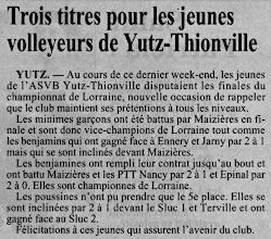 Photo: 17-06-97 Les benjamines championnes de Lorraine, minimes garçons et benjamins 2è