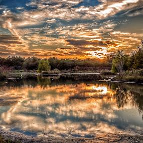 Sunset Texas by John Chitty - Uncategorized All Uncategorized ( water, sunset, texas, reflections )
