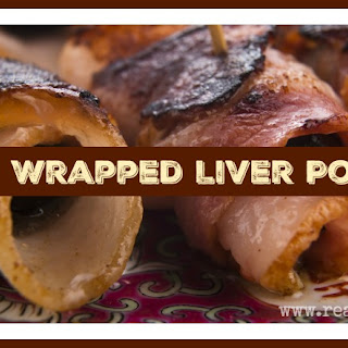 Bacon Wrapped Liver Poppers