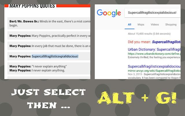 Select Search Shortcut