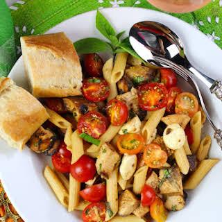 Balsamic Chicken Caprese Pasta.