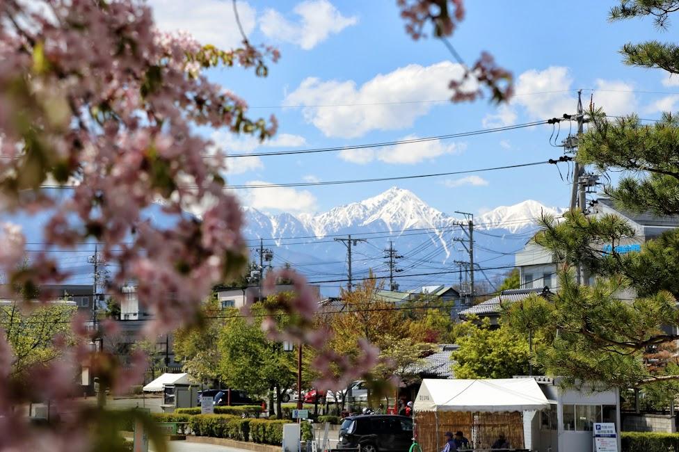 Matsumoto, widok na Alpy Japońskie