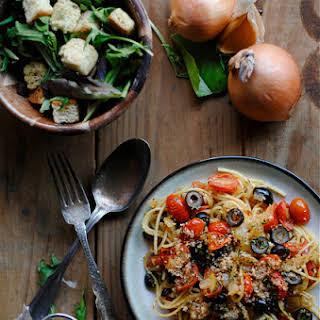 Tomato and Olive Pasta.