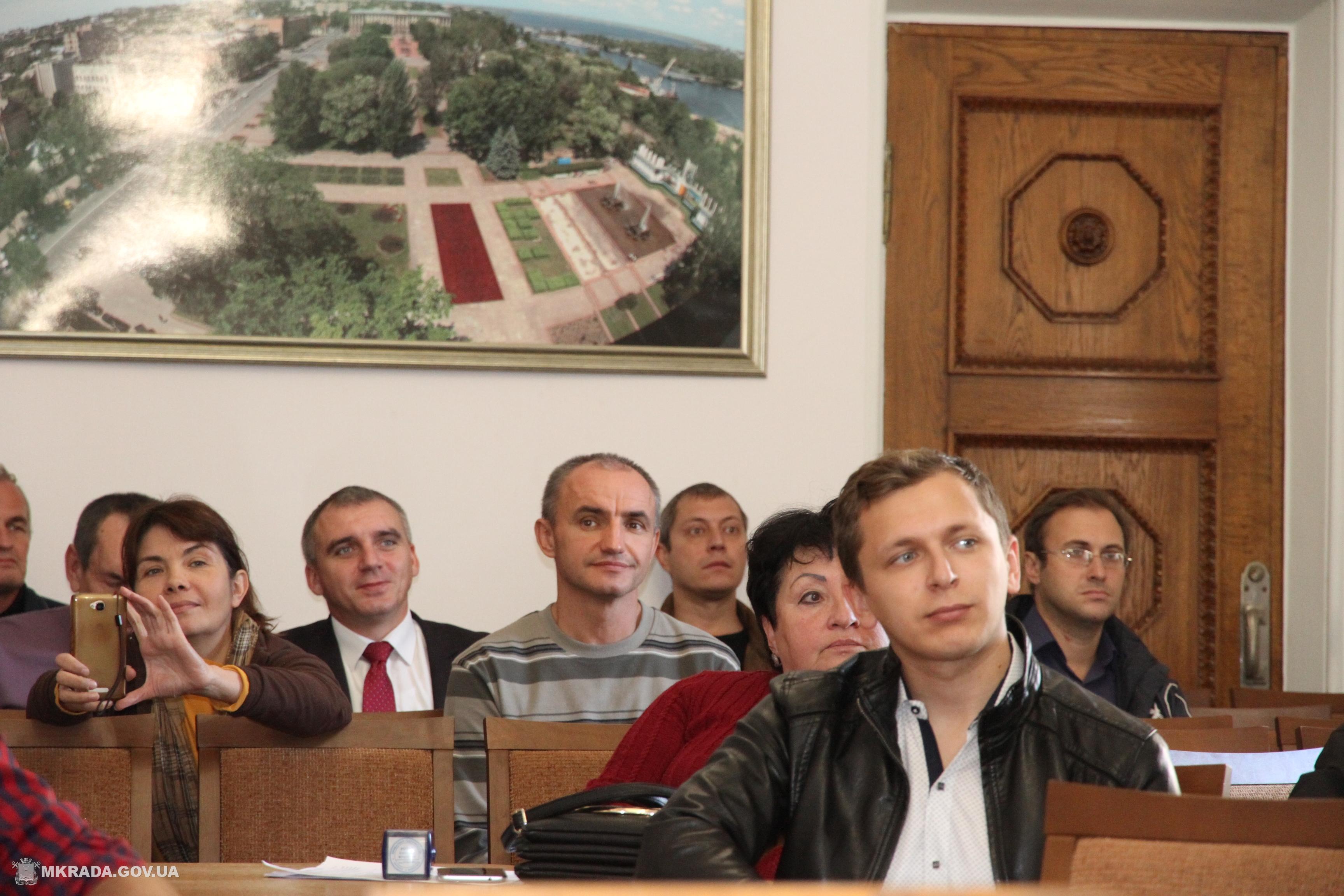 Презентация работ победителей архитектурного конкурса проектов реконструкции Соборной площади. Фото Николаевского городского совета.