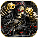 Horror Skull Gun Keyboard Theme icon