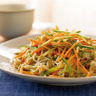 Thai Noodle Salad With Peanut Sauce.
