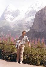 Photo: Amado Moreno, turista en los Alpes suizos