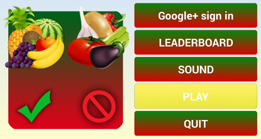 select only fruits