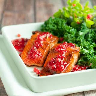 Caramelized Sockeye Salmon with Wild Berry Gastrique.