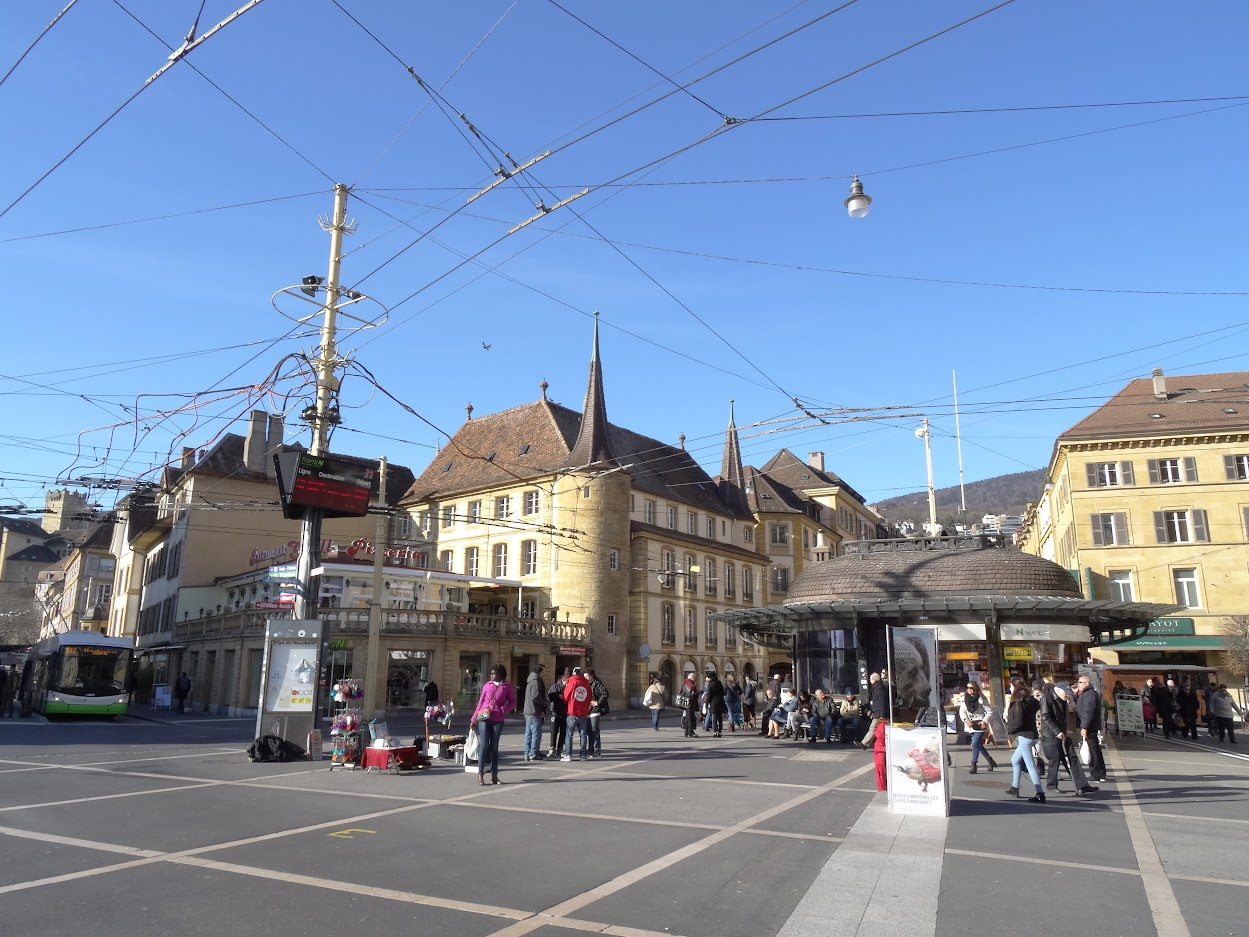 Place Pury à Neuchâtel